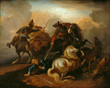 Cavalry Scene, after Van der Mealen