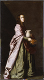 SAINT JUSTA, Studio of Francisco de Zurbaran (1598-1664) in the Spanish Room, Kingston Lacy