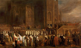 THE FUNERAL PROCESSION OF WILLIAM CANYNGE 1474 oil on panel by Edward Villiers Rippingille