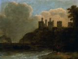 "19th century English School - ""A Ruined Castle"""