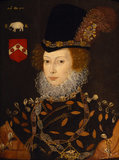 Elizabeth Knollys, Lady Leighton , attributed to George Gower (c.1540-1596)