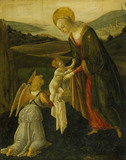 THE MADONNA AND CHILD WITH AN ANGEL by Master of the Triumph of Chastity (1444-1497) Catalogue number: 233