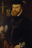 PORTRAIT OF SIR FRANCIS HERVEY C1564, artist unknown, English