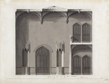 ARCHITECTURAL DRAWINGS, Joseph Potter design for the Gothick Room