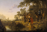ST. PHILIP BAPTIZING THE EUNUCH by Albert Cuyp 1620 - 1691, at Anglesey Abbey