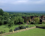 Looking South-East from the Balcony at Chartwell towards the Studio, the view for which Churchill bought the house