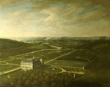 "BELTON HOUSE AND GARDENS, a bird's eye view by Thomas Smith, known as ""Smith of Derby"""