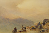 SNOWDON BY SUNSET by Aaron Edwin Penley (1807-1870)