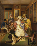 AT THE SHOEMAKERS, English c.1825 (anon) Pattison's Shoe Shop, 129 Oxford Street