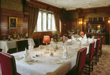 The Victorian dining room at Lanhydrock