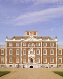 The grand south front of Wimpole Hall from the gravel drive