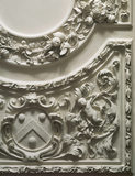 Detail of a corner of the platerwork ceiling in the Chapel at Belton House, by Edward Goudge, c1687