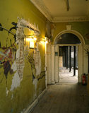 The Hallway at Sutton House the left hand wall dates from 1524 but the hallway was constructed in the 18th century