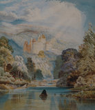 A ROMANTIC VIEW OF CRAGSIDE by an unknown painter