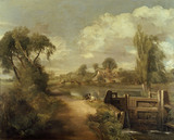 THE LOCK ON THE STOUR after John Constable, oil on canvas, at Anglesey Abbey