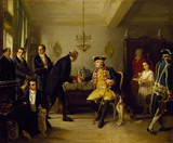 MAYER AMSCHEL RETURNING THE INVENTORY OF THE ELECTOR OF HESSE by Moritz Oppenheim (1800-1882) at Ascott