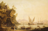 LORD NELSON AND LADY HAMILTON AT POSILLIPO by J. T. Serres