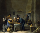 THE TRICK TRACK PLAYERS by David Teniers the younger (1610-90) from Polesden Lacey