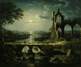 Moonlight Scene' a picture by William Pether (1731-c1795)