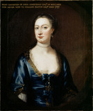 PORTRAIT OF MRS PASTON, by Thomas Hudson (1701-79) at Coughton Court