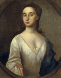 PORTRAIT OF HENRIETTA WOLFE (James Wolfe's mother) by an unknown artist