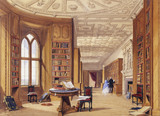 THE LIBRARY AT WINDSOR CASTLE by Joseph Nash (1808-1878) from Anglesey Abbey