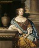 PORTRAIT OF ANNE MOUNSON, LADY THROCKMORTON by the studio of Sir Peter Lely (1618-1680) at Coughton Court
