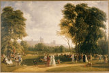 WINDSOR AND THE MONTEM AT ETON by W. Parrott 1849