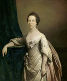 BETHIA LEGG, MRS RICHARD WILLIS (1757) attributed to Pine or Hoare - Oil on canvas, in the Great Hall at Clevedon Court