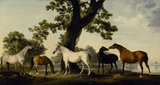 FIVE BROOD MARES by George Stubbs (1724-1806) at Ascott, Buckinghamshire.