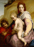 THE MADONA AND CHILD WITH ST JOHN by Andrea Del Sarto (1486-1531) at Ascott, Buckinghamshire.
