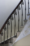 Metalwork banister on the spiral staircase in the Temple of the Winds at Mount Stewart House, Co Down, Northern Ireland