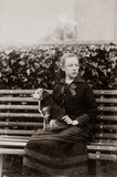 Rosalie Chichester with her dog, Memory.