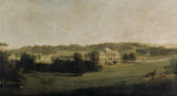 KEDLESTON HALL FROM THE SOUTH by George Cuitt (1743-1818)