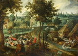 Landscape with Picnic and Sheep-dipping