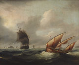 Seascape with View of Fort Stuart
