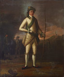 Master Middleton (?) preparing to Shoot for the Silver Arrow at Harrow, 5th August, 1758