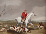 Hunting Scene of Huntsmen casting Hounds