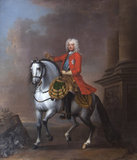 King George II (1683-1760) on horseback