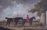 Man on Horseback, leading a Horse, and a Dog