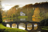 The Pantheon seen from across the lake in the winter at Stourhead, Arnhel de Serra