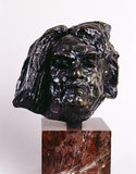 Bronze head of Balzac, by Auguste Rodin, at Shaw's Corner