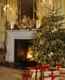 Festive decoration in one of the rooms at Hinton Ampner