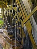 A close view of the waterwheel used to power the machinery at Finch Foundry