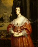 HENRIETTA MARIA (1609-69), Queen of Charles I, after Sir Anthony  Van Dyck in the Breakfast Room at Penrhyn Castle
