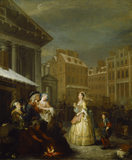 THE FOUR TIMES OF DAY: MORNING by William Hogarth (1697-1764) from Upton House
