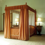 Four poster bed in Lady Churchill's bedroom at Chartwell