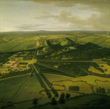 BIRDS EYE VIEW OF DUNHAM MASSEY FROM THE SOUTH-WEST by John Harris c.1750
