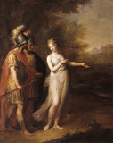 VENUS DIRECTING AENEAS AND ACHATES TO CARTHAGE, by Angelica Kauffman RA (1741-1807); 50x40in; exhibited at the Royal Academy in 1769