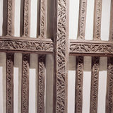 Detail of Carved Wooden Beams in the Merchants House built in c1500